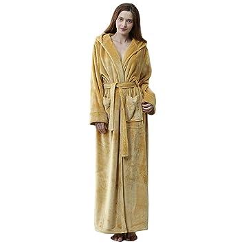 MERRYHE Vestidos para Albornoz De Franela Adultos Unisex Batas Largas De Baño con Capucha Batas con Capucha SPA Hotel Gimnasio Ducha Loungewear Pijamas Ropa ...