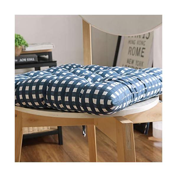 WDOIT - Cuscino per Sedia, particolarmente Imbottito, per mobili in Rattan, da Giardino, Stile 3, 40 * 40cm 5 spesavip