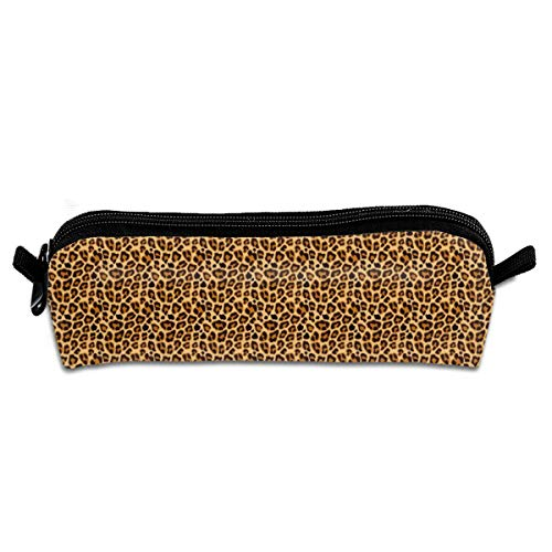 Leopard Pattern Halloween Costume Pencil Pouch Bag Stationery Pen Case Makeup Box with Zipper Closure 21 X 5.5 X 5 -