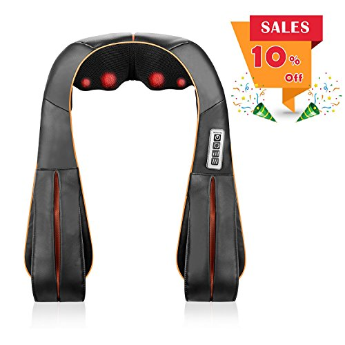 - Keeptop Back Neck and Shoulder Massager with Heat, Deep Tissue Roller and 3D Kneading & Shiatsu Massage for Lower Upper Back Leg Calf Foot and Full Body Electric Massaging Tool for Home Office Car Use