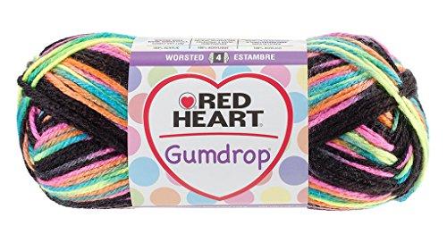 (Red Heart Gum Drop 100% Acrylic Yarn - 204 yds - 4oz (113 g) skein - Licorice)