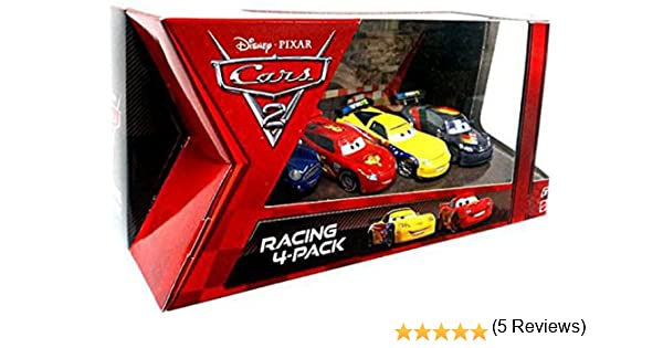 Disney Cars 2 Exclusive 4 coches BoxSet - Rayo McQueen, Max Schnell, Jeff Corvette: Amazon.es: Juguetes y juegos