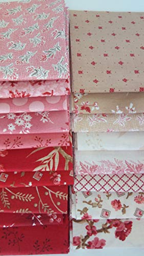 (Little Sweetheart Laundry Basket Quilts Edyta Sitar Andover Fabrics Quilting Cotton ~ 17 Fat Quarters Bundle ~ 4.25 Yards Total)