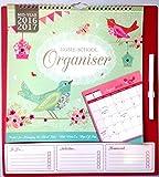 2016 2017-Agenda organizer con calendario, anno a casa, la scuola, con penna, 3933) Vintage Birds