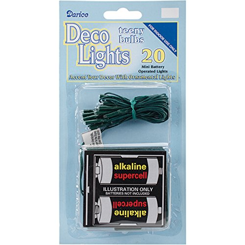 DARICE Deco Lights Battery Operated Teeny Bulbs (20 Pack)...