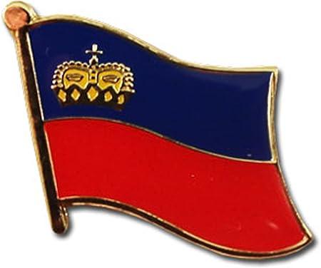 LIECHTENSTEIN Country Metal Flag Lapel Pin Badge