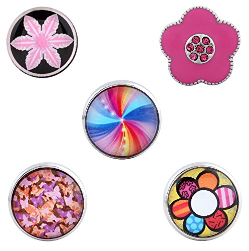 Morella click-button ® femme lot de 5 boutons pression pour bijou femme à motif chat et papillons