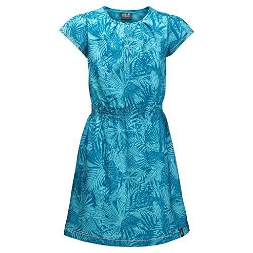 Jack Wolfskin Girls Jungle Dress, Lake Blue All Over, Size 140 (9-10 Years Old)