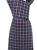 Ermenegildo Zegna Purple Blue Geometric Silk Tie