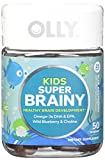 OLLY Kids Super Brainy Omega 3S DHA/EPA Gummy Supplements, Blue Raspberry, 50 Count