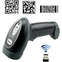 Kercan 2.4G Wireless USB Automatic 2D /QR / PDF417 / Data Matrix/ Aztec/ MAXICODE Bar Code Scanner KRW-588