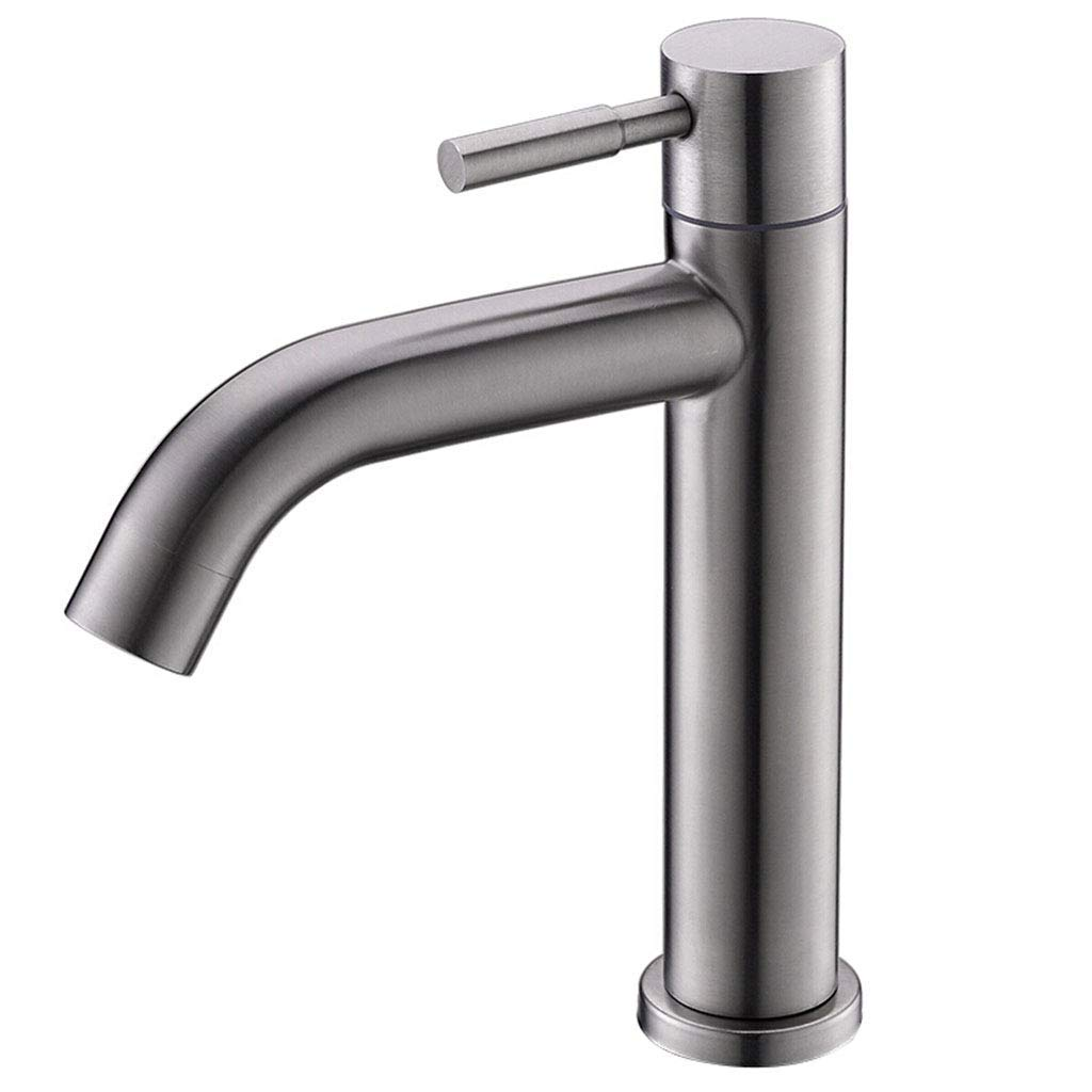 JBP Max Wasserhahn 304 Edelstahlbecken Wasserhahn Waschbecken Single Cold Wasserhahn 360 Grad Rotation Ist Bequemer Zu Bedienen-3