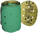 3M 01566 Stikit Green 6'' 80D Grit Dust-Free Disc Roll