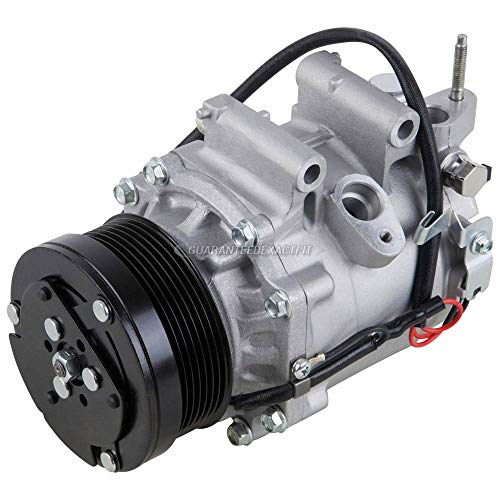 AC Compressor & A/C Clutch For Honda Civic 1.8L 2006 2007 2008 2009 2010 2011 w/ 3-Pin Connector - BuyAutoParts 60-01974NA NEW