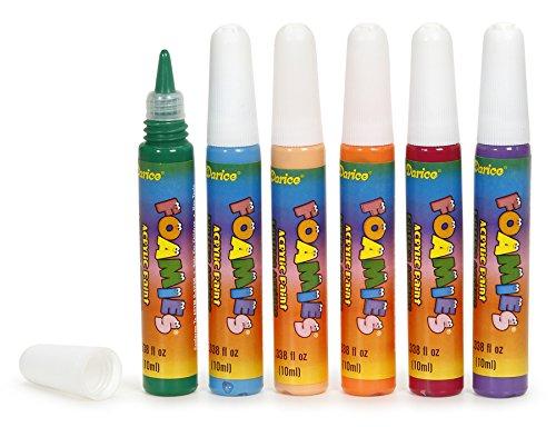 Darice 6-Piece Foamie Bright Paint Colors Marker Set, 10mm ()