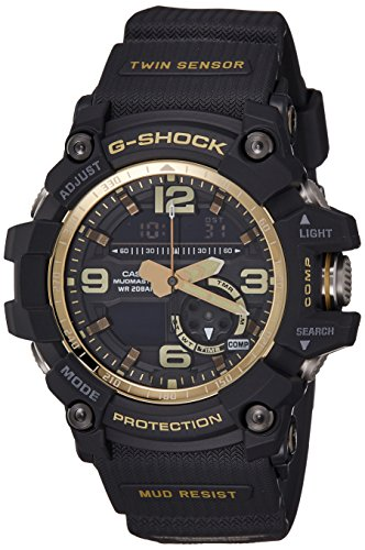 G-Shock GG-1000GB-1A Black and Gold Master of G Twin Sensor Series Casio