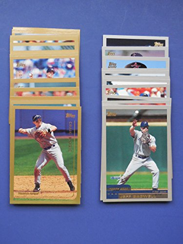 Houston Astros 1999 Topps and 2000 Topps Baseball Team Set with series 1 and 2 and year-end traded cards* *Last Team Set of the 20th Century and First Team Set of the 21st century**Craig Biggio, Jeff Bagwell, Billy Wagner and More