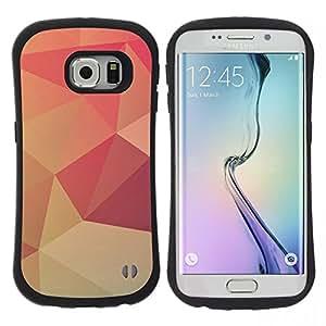 """Pulsar iFace Series Tpu silicona Carcasa Funda Case para Samsung Galaxy S6 EDGE , Peach Lollipop Modelo del papel pintado"""""""