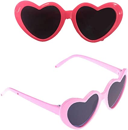 Stylish Sunglasses Heart Shape Frame Glasses 18inch American Doll Accessory