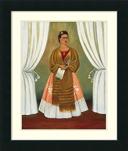 Framed Art Print 'Self-Portrait Dedicated to Leon Trotsky, 1937' by Frida Kahlo