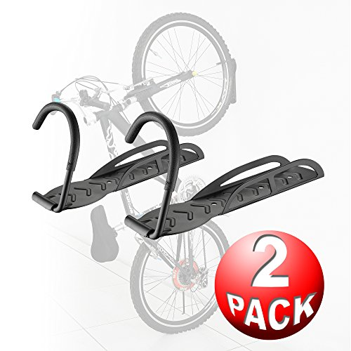 Da Vinci Tire Tray (Bike Lane Products Bicycle Wall Hanger 2 Pack Bike Storage System For Garage or Shed Vertical Bicycle Storage)