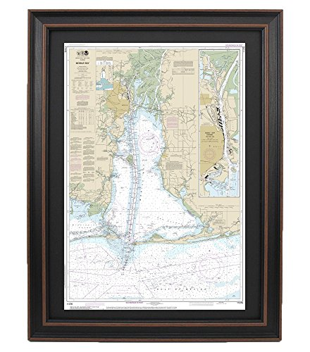 PatriotGearCompany : Poster Framed Nautical Chart; NOAA 11376 - Mobile ()