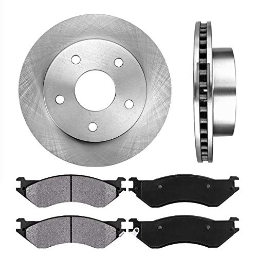 4 1500 4wd Door - [ 4WD ] FRONT 307.34 mm Premium OE 5 Lug [2] Brake Disc Rotors + [4] Metallic Brake Pads