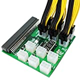 Server Power Supply Breakout Board with 10x 6Pin to 8Pin(6+2) for DPS-1200FB DPS-750RB DL580 Ethereum, ZEC GPU