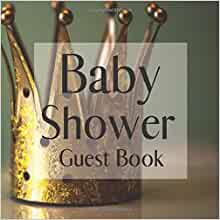Baby Shower Princess Prince Sign In Baby Girl-Boy Guest Book Birthday Keepsake