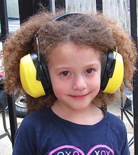 Sable & Steel Highest NRR 35db Safety Ear Muffs Auto Adjustable Earmuffs Shooters Hearing Protection Ear Muffs For Sports Outdoors Shooting Racing Work. Fits Adults Children.Yellow by Sable & Steel (Image #5)