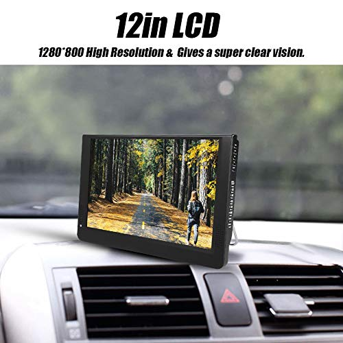 fosa 1080P Car Digital TV, LEADSTAR 12in Color Screen Television, Portable Handheld ATV/UHF/VHF Stereo Surrounding Car Television for Bedroom, Kitchen, Caravan, Build in Rechargble Battery by fosa (Image #4)