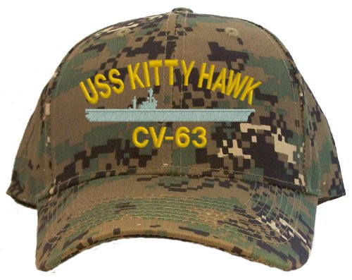 USS Kitty Hawk CV-63 Embroidered Baseball Cap - Digital Camo