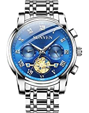 SUNVEN Men's Watches Waterproof Quartz - Business Wristwatch Gold Stainless Steel Sapphire Face Multi-Function Displays Luminous Hands 2019 Design …