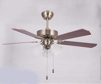 ▷ *ventilador con luz Ventilador de techo de madera ...