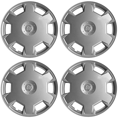 15 inch Hubcaps Best for 2009-2014 Nissan Versa - (Set of 4) Wheel Covers 15in Hub Caps Silver Rim Cover - Car Accessories for 15 inch Wheels - Snap On Hubcap, Auto Tire Replacement Exterior Cap (2009 Nissan Cars)