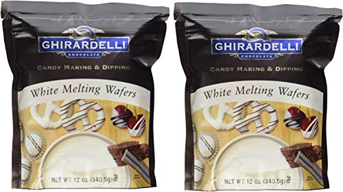Ghirardelli, Candy Making & Dipping, White Melting Wafers, 12oz Bag (Pack of 2)