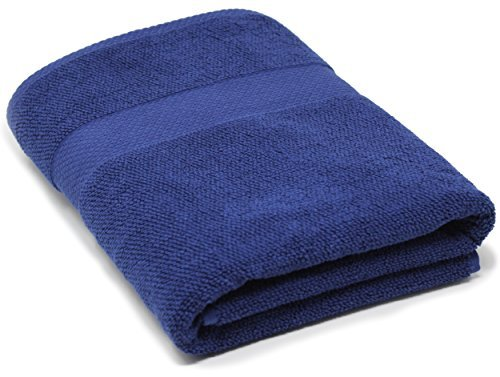 Maura 100% Cotton Bath Sheets Oversized 35x70 inch Extra Large Bath Towels. (Bath Sheet, Rich Navy)