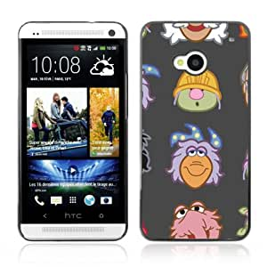 JinStore Hard Case Cover for HTC One (M7) / Funny Muppet Heads