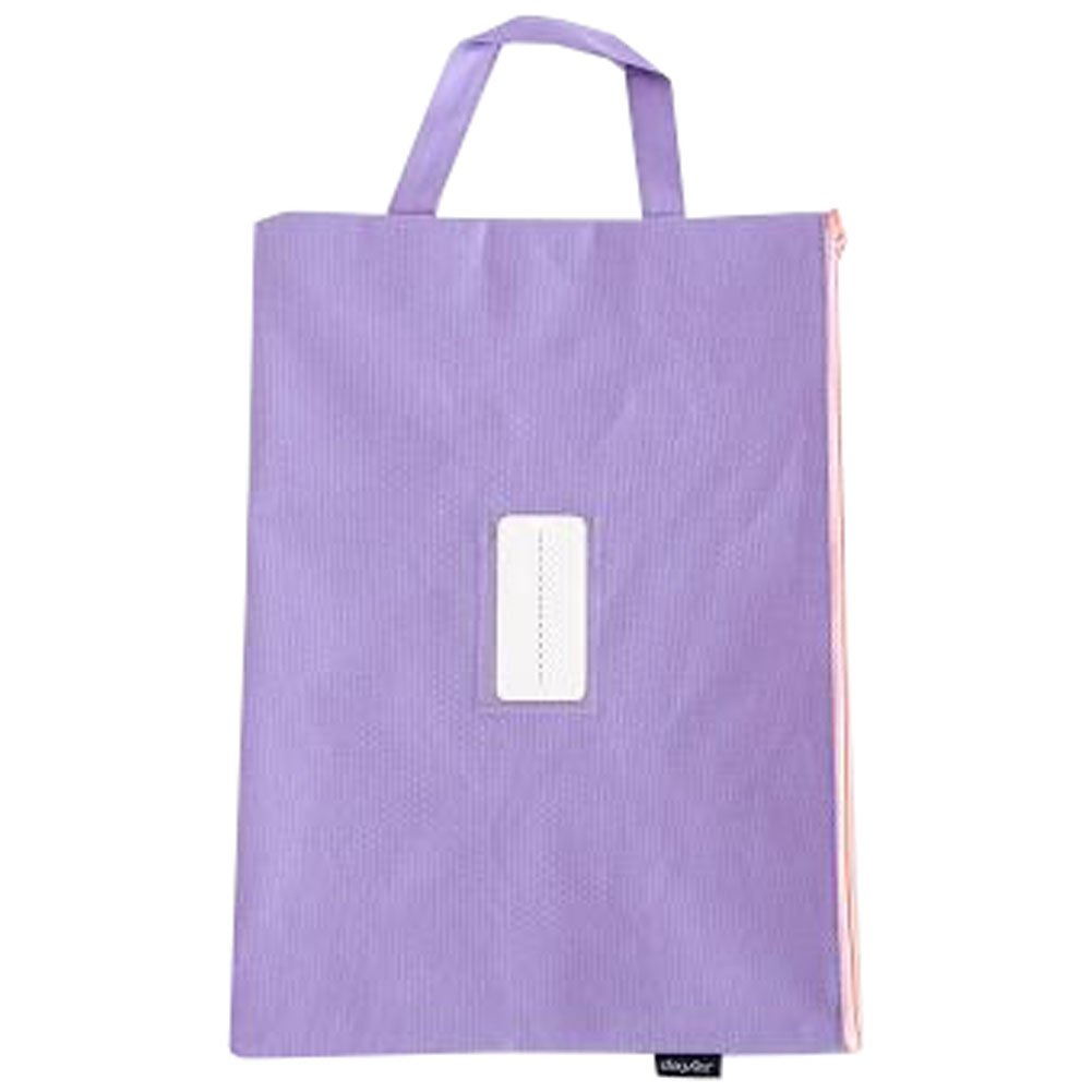 Cute File Bag Stationery Bag Pouch File Envelope for Office/School Supplies, Purple