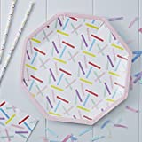 Ginger Ray PM-903 Pick And Mix Sprinkles Paper Party Plates (8 Pack), Multicolor