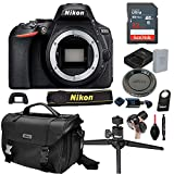 Nikon D5600 DSLR Camera with Body (No Lens) + 32GB Card, Tripod,Case and More (13pc Bundle)