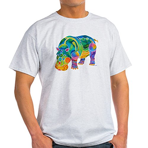 CafePress Most Popular Hippo 100% Cotton T-Shirt Ash Grey