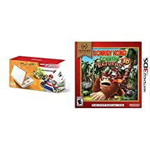 New 2DS XL Mario Kart 7 Bundle - White/Orange + Nintendo Selects: Donkey Kong Country Returns 3D - 3DS [Digital Code]