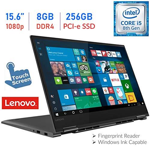 2019 Lenovo Yoga 730 15.6'' 2-in-1 Touch FHD IPS (1920x1080) Laptop PC, Intel Quad-Core i5-8250U, 8GB DDR4, 256GB PCI-e SSD, USB Type-C, Bluetooth, Backlit Keyboard, Fingerprint Reader, Windows 10 (Best Lenovo Ultrabook 2019)