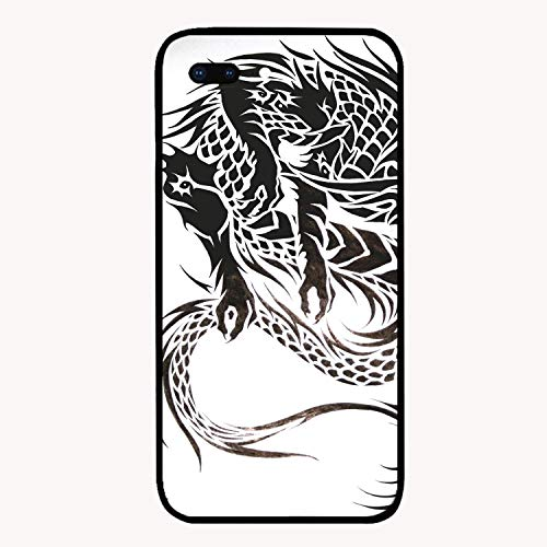 (Tribal Dragon Tattoo Design Printed iPhone 7/8 Plus Cover Shockproof Hard PC Compatible for iPhone 7/8 Plus Case 5.5