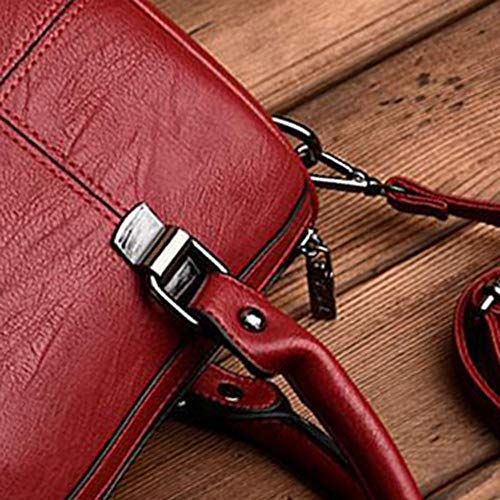 YT Red Bandolera Almohada 12 29 Suave de 19 Bandolera cm Bolsa Y Diagonal Bolsos Solo Cuero SxTZwFF