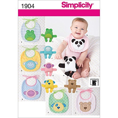 Simplicity Precious Patterns 1904 Baby Bibs and 6 1/2