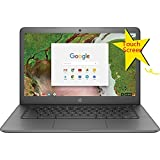 2018 HP High Performance Touchscreen Chromebook | 14 HD (1366 x 768) Multitouch Screen | Intel Celeron N3350 up to 2.4GHz | 4GB Memory | 32GB SSD | Bluetooth | No Optical | Certified Refurbished