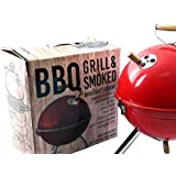 Fairbridge Charcoal Grill 12in with Steel Cooking Grate for Home Garden Barbecue Tool Sets Outdoor Smokers BBQ grilling charcoal Round Portable Charcoal Kettle Grills for Backyard Tailgate Party