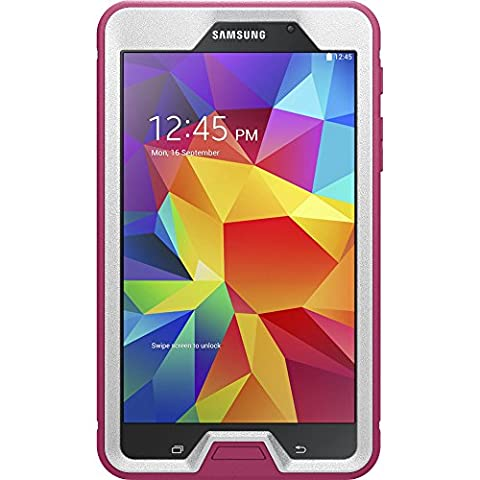 OtterBox DEFENDER SERIES Case for Samsung Galaxy TAB 4 7.0 - Retail Packaging - PAPAYA (WHITE/PEONY (Otter Box Galaxy Tablet 4)